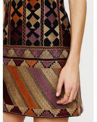 Free People | Multicolor Phulkari Embroidered Shift | Lyst