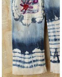 Free People - Blue Vintage Acid Wash Jeans with Tie Dye - Lyst