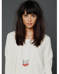 Free People - Metallic Disc and Bead Necklace - Lyst