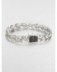John Hardy   Metallic Black Sapphire & Sterling Silver Braided Bracelet   Lyst