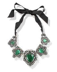 Lanvin | Green Lanvin Necklace | Lyst