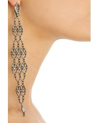 Loree Rodkin - Metallic Polina 18karat Rhodium White Gold Diamond Earrings - Lyst