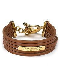 Marc By Marc Jacobs - Brown Multi Leather Toggle Bracelet - Lyst