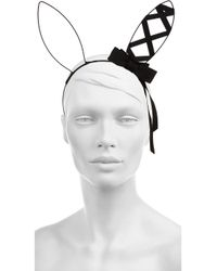Mimi Holliday by Damaris - Black Ribbon and Wire Bunny Ears Headband - Lyst