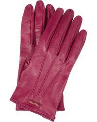 Miu Miu | Purple Leather Gloves | Lyst