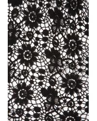Topshop   Black Crochet Lace Flippy Dress   Lyst
