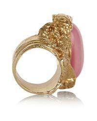 Saint Laurent | Metallic Arty Oval Ring | Lyst