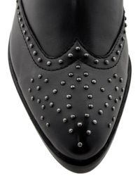 ASOS | Black Asos Autotune Studded Leather Ankle Boots | Lyst