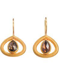 Mallary Marks - Metallic Brown Diamond Kit Kat Earrings - Lyst
