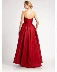 Notte by Marchesa | Red Silk Taffeta Gown | Lyst