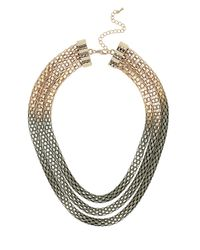 TOPSHOP | Gray Ombre Multirow Necklace | Lyst