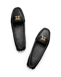 Tory Burch | Kendrick - Black Leather Moccasin Driver | Lyst