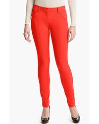 Theory | Red Ardena Skinny Pants | Lyst