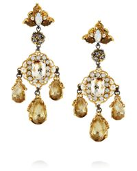 Erickson Beamon | Metallic Alyssa Earrings | Lyst