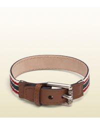 Gucci - Belt Inspired Ribbon Bracelet for Men - Lyst