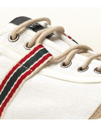 Gucci - White Canvas Lowtop Sneaker for Men - Lyst