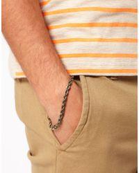 ASOS - Metallic Asos Twist Chain Bracelet for Men - Lyst