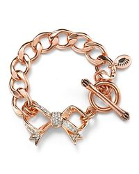 Juicy Couture - Pink Bow Starter Charm Bracelet - Lyst