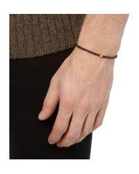Luis Morais | Brown Skull Charm Charcoal Bead Bracelet for Men | Lyst