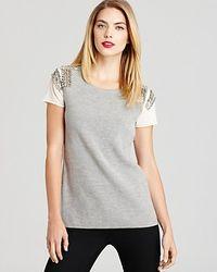 Sachin & Babi | Natural Sweater Embellished Pinnacle Short Sleeve | Lyst