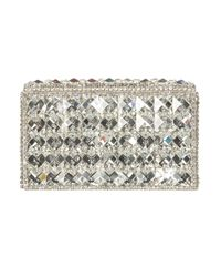 TOPSHOP | Diamante Silver Box Clutch | Lyst