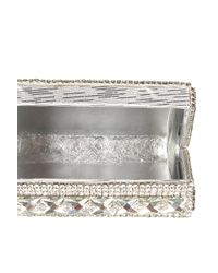 Topshop | Diamante Silver Box Clutch | Lyst