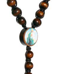 ASOS - Brown Asos Wooden Crucifix Necklace for Men - Lyst
