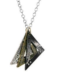 ASOS - Multicolor Asos Mixed Metal Triangle Necklace for Men - Lyst