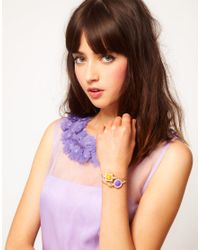 ASOS - Multicolor Pack Of Two Stone and Pearl Bangles - Lyst