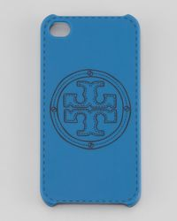 Tory Burch | Blue Stackedlogo Phone Case | Lyst