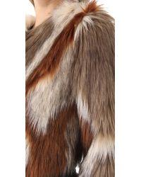 Twelfth Street Cynthia Vincent | Brown Faux Fur Jacket | Lyst