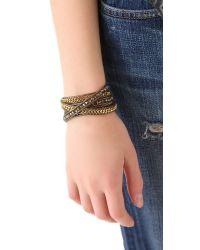 Chan Luu - Metallic Bead Chain Wrap Bracelet - Lyst