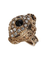 TOPSHOP - Brown Stone Eye Ring - Lyst