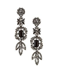 TOPSHOP | Gray Red Carpet Chandelier Earrings | Lyst