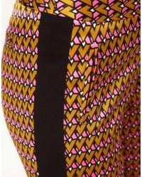 ASOS Collection - Multicolor Geo Print Trousers - Lyst