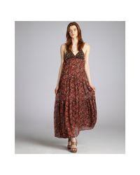 Blu Moon - Multicolor Rustic Flower and Leopard Boho Maxi Dress - Lyst