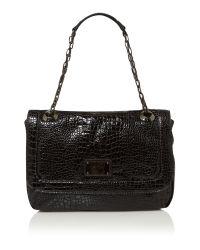 Kenneth Cole Reaction | Black Mercer Street Croc Chain Shoulder Bag | Lyst