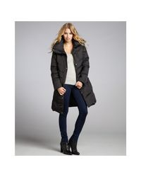Marc New York Black Quilted Matte Mercy Fur Trim Hooded