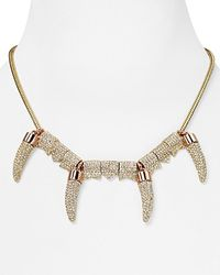 Rebecca Minkoff - Metallic Crystal Horn Frontal Necklace  - Lyst