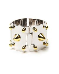 Eddie Borgo | Metallic Two-tone Studded Cuff | Lyst