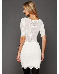 Free People | White Boatneck Victorian Dress | Lyst