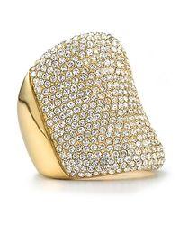 Michael Kors - Metallic Pave Concave Ring - Lyst
