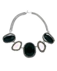 Paul Smith - Black Woven Five Stone Necklace - Lyst