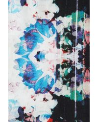 Topshop | Floral Camo Print Lantern Dress | Lyst