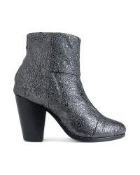 Rag & Bone   Gray Classic Newbury Boot in Gunmetal Crinkle   Lyst