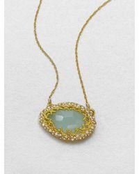 Alexis Bittar | Metallic Chalcedony Pendant Necklace | Lyst