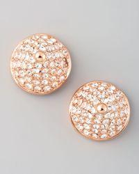 Eddie Borgo | Metallic Pave Crystal Conestud Earrings | Lyst