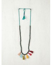 Free People | Multicolor Prayer Bead Pompom Necklace | Lyst