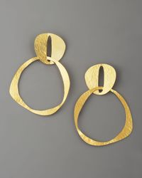 Herve Van Der Straeten | Metallic Doublecircle Earrings | Lyst
