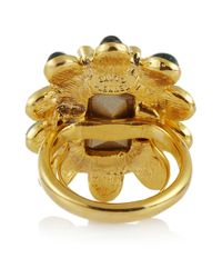Kenneth Jay Lane - Pink 22karat Goldplated Swarovski Crystal Ring - Lyst